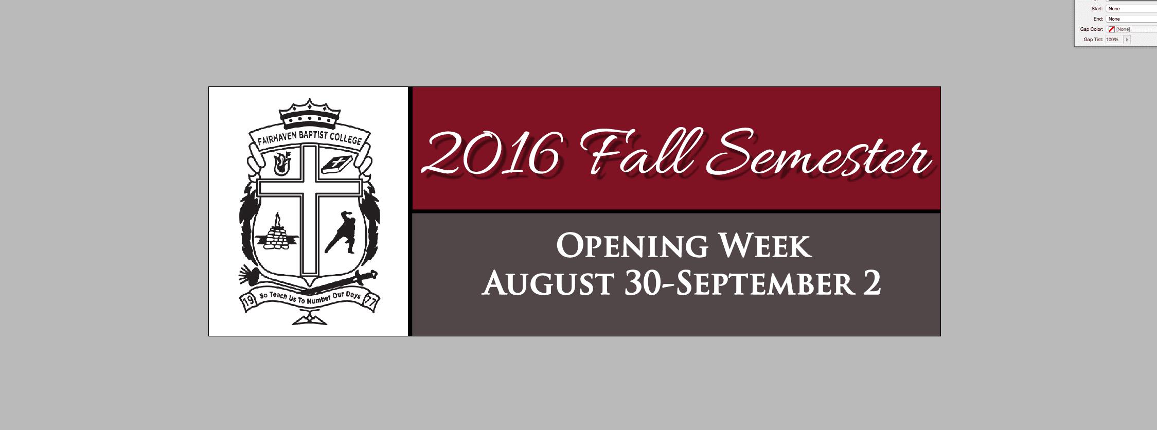 Fbc Fall Classes Begin Soon Fairhaven Baptist Church